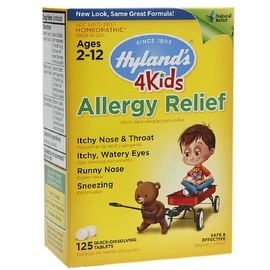 Hyland's 4 Kids Allergy Relief Quick-Dissolving Tablets 125 ea