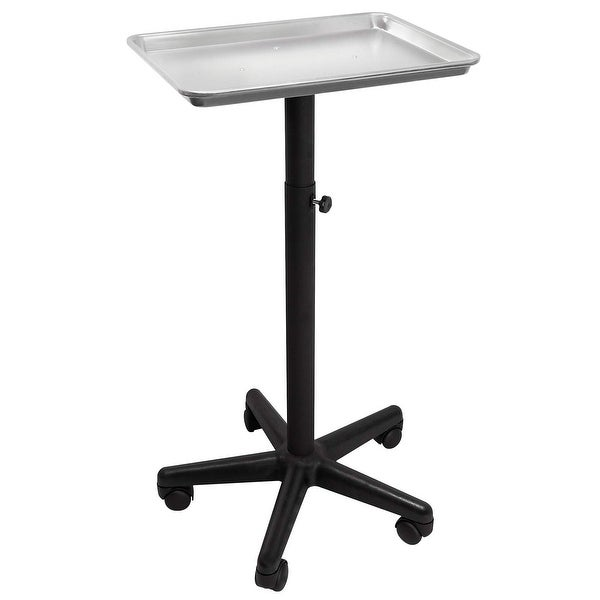 Professional Aluminum Salon Rolling Utility Tray Cart Medical Tattoo