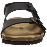 Bayton Mens Achille Leather Buckle Open Toe Fisherman Sandals