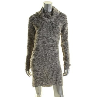 Ultraflirt Womens Juniors Sweaterdress Marled Cowl Neck - L