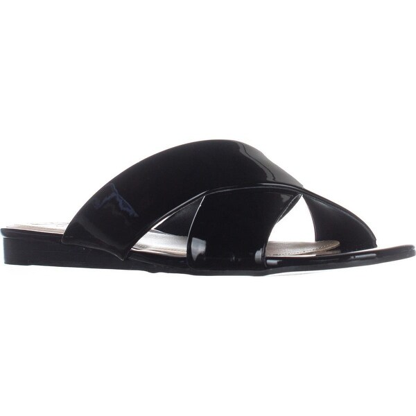 GUESS Flashee3 Slide Sandals, Black - 8.5 us