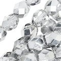 Czech Fire Polished Glass Beads 6mm Round Crystal Silver' (25) - Thumbnail 0