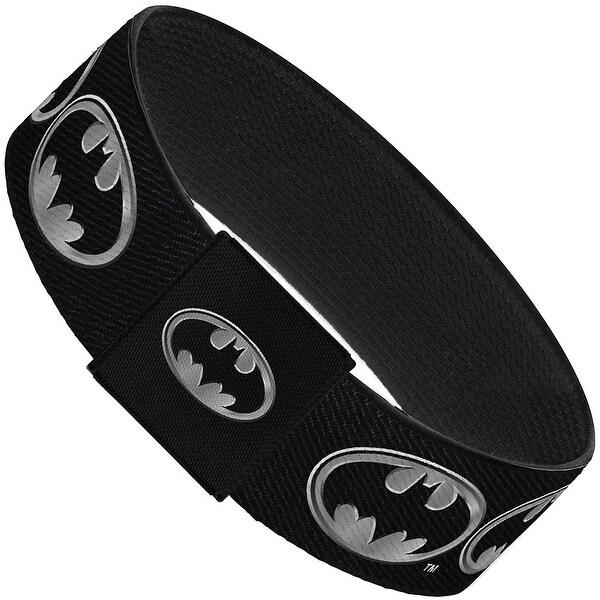 Batman Shield Black Silver Elastic Bracelet