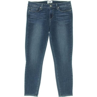 Paige Womens Stretch Whisker Wash Cropped Jeans - 25