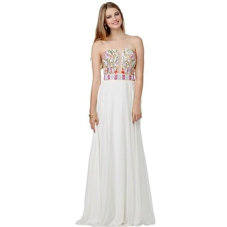 JVN by Jovani Womens Beaded Prom Formal Dress