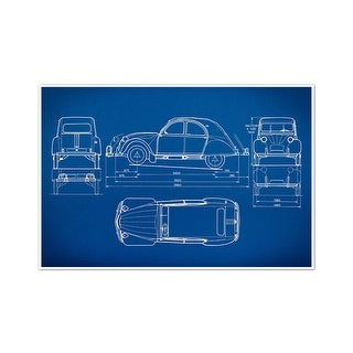 Old Car Gearhead Blueprints Matte Poster 24x16