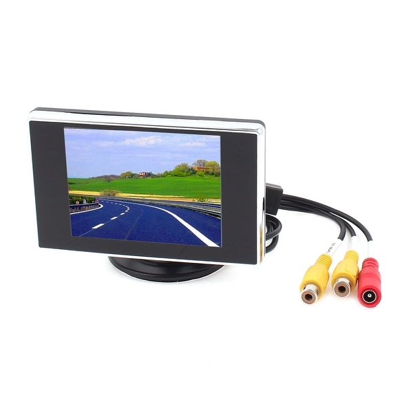 "Unique Bargains 3.5"" Color LCD TFT Rear View Monitor DVD VCR Video System for Car Back Up Camera"