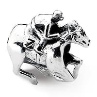 Sterling Silver Reflections Race Horse Bead (4mm Diameter Hole)