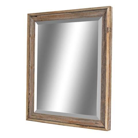 Rustic Reclaimed Barnwood Framed Beveled Mirror