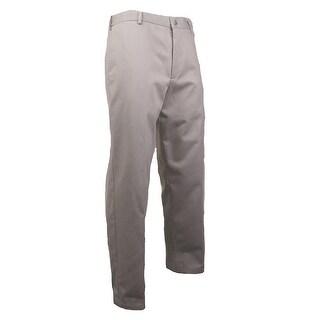 Dockers Men's Comfort Khaki Pleated Pant (Stone, 33x30) - stone - 33X30