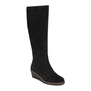 Aerosoles Women's Binocular Wedge Boot Black Suede