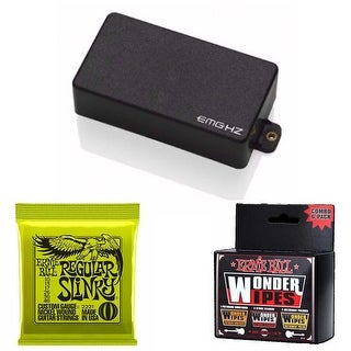 EMG H4 Passive Electric Guitar Humbucker Pickup (Black) Bundle