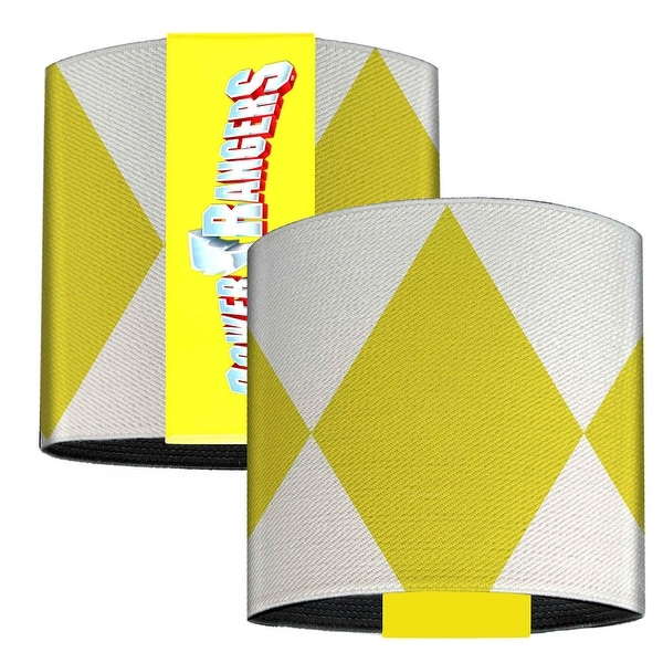 Yellow Ranger Sleeve Diamonds White Yellow Elastic Wrist Cuff