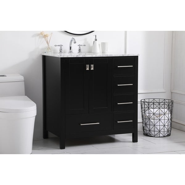 Willow Grove Vanity Cabinet with Marble Top. Opens flyout.