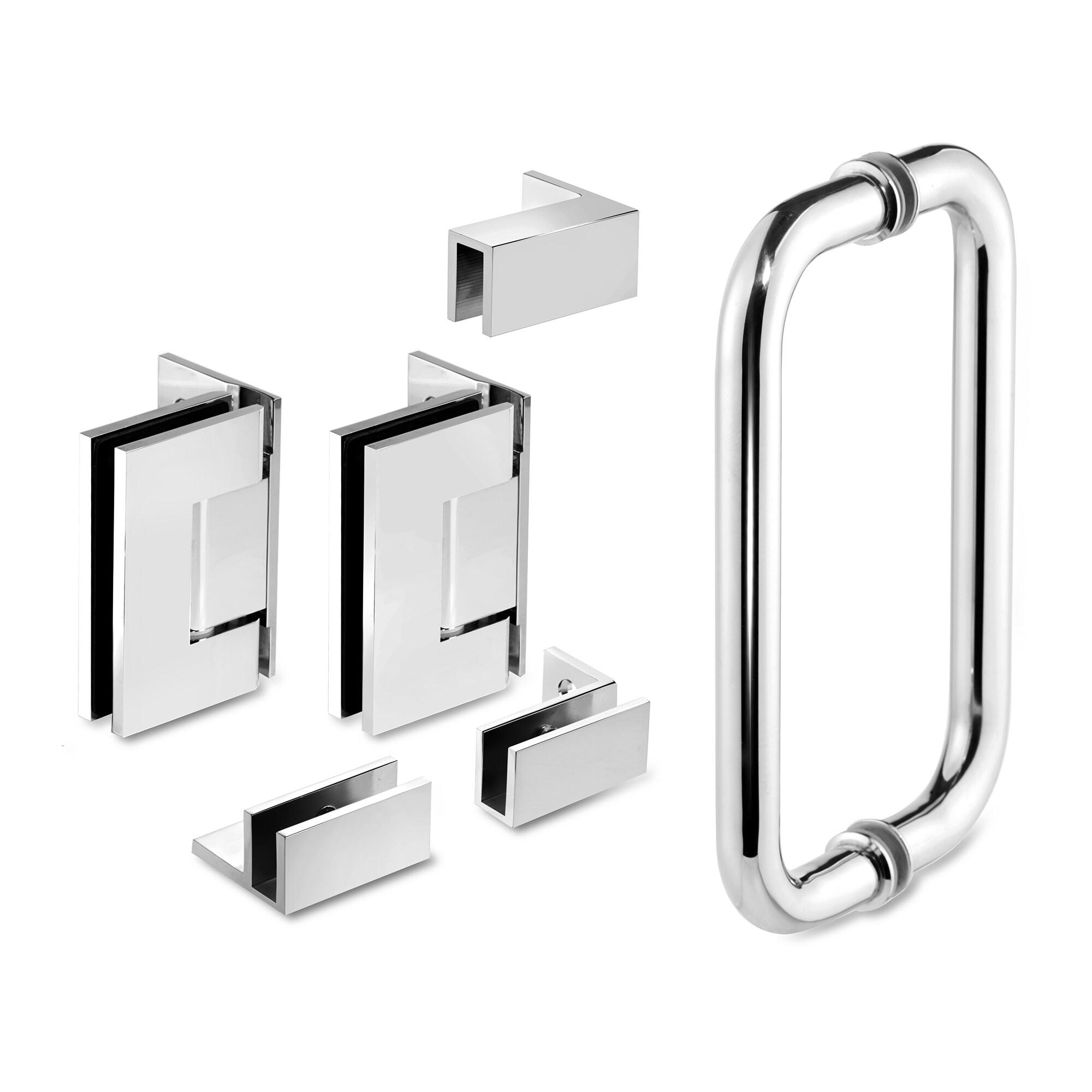 38 25 X 76 Hinged Frameless Shower Door Panel Reversible Overstock 30894987