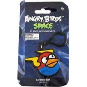 """Angry Birds Space 3.5"""" PVC Backpack Clip On: Lightning Blue Bird"""