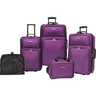 867d4c01c Traveler's Choice Versatile 5-Piece Luggage Set Purple - US One Size (Size  None