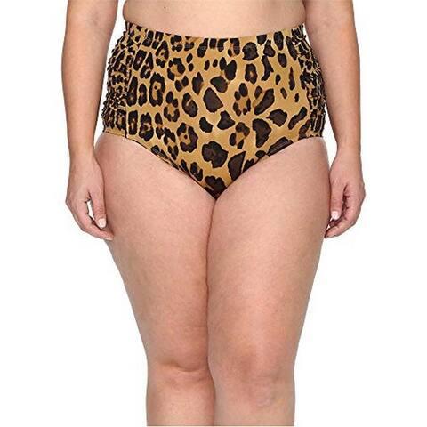 Lauren Ralph Lauren Women's Plus Size Hipster Bikini Bottom, Leopard Print (20W)