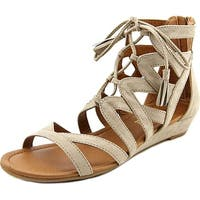 Madeline Girl Womens Saturate Fabric Open Toe Casual Gladiator Sandals