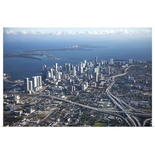 """""""Aerial view of Miami"""" Poster Print"""