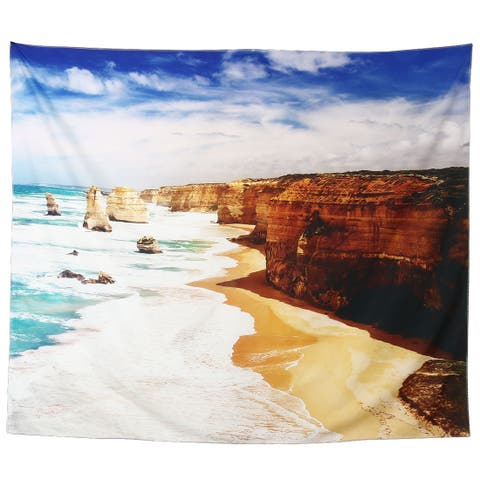 Polyester Beach Pattern Outdoor Picnic Water Resistant Blanket Mat Rug Throw Pad Multicolor