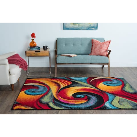 Alise Rugs Rhapsody Contemporary Abstract Area Rug