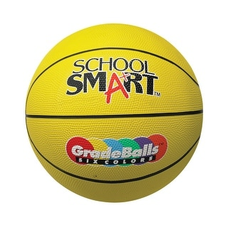 School Smart 28-1/2 in Gradeball Rubber Women's Basketball, Yellow
