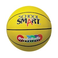 School Smart 28-1/2 in Gradeball Rubber Women's Basketball, Yellow