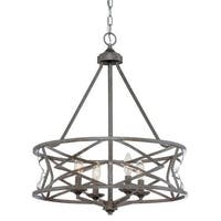 Millennium Lighting 2174 Lakewood 4 Light 1 Tier Drum Chandelier