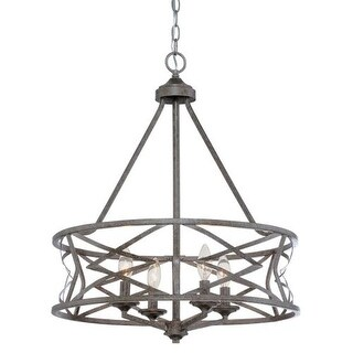 Millennium Lighting 2174 Lakewood 4 Light 1 Tier Drum Chandelier (2 options available)