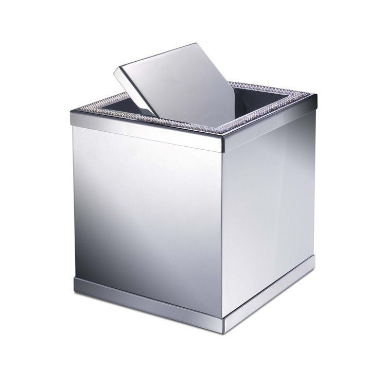 Nameeks 89191  Windisch Free Standing Waste Basket - Chrome (Chrome Finish)
