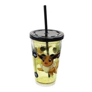 Pokemon Eevee 18oz Carnival Cup w/ Floating Confetti Pokeballs