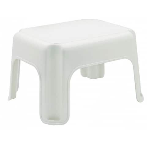 "Rubbermaid Roughneck Step Stool, 12-1/2"" x 15-1/2"" x 9- 1/4"", White"