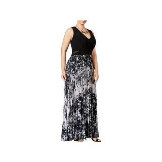 Xscape Womens Plus Evening Dress Printed Sleeveless