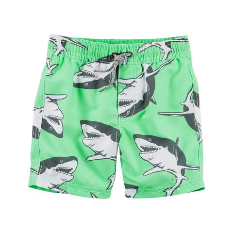 Carter's Baby Boys' Shark Swim Trunks, Green