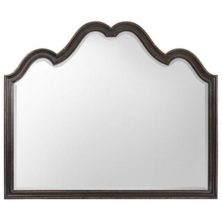 "Hooker Furniture 1595-90006A-LTBK  Auberose 52-1/2"" Wide Poplar Framed Mirror - Soft Charcoal"