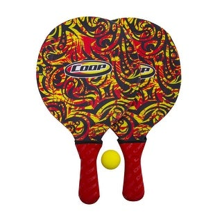 """15.5"""" Tribal Red and Yellow Hydro Smash Swimming Pool or Yard Paddle Game Set"""