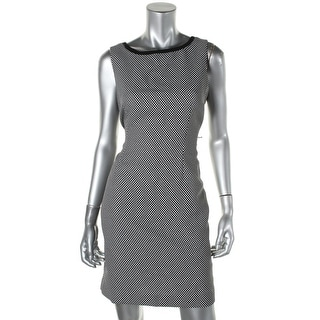 Anne Klein Womens Petites Woven Pattern Wear to Work Dress - 6P