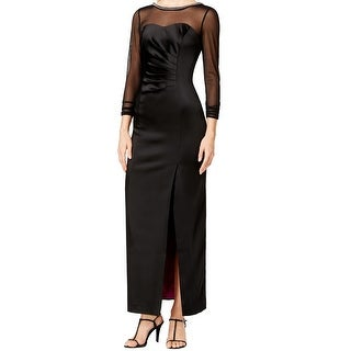 Tahari by ASL NEW Black Women's Size 12 Illusion Embellish Ball Gown