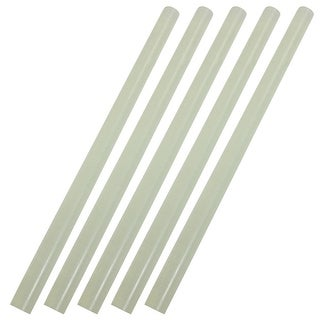 Unique Bargains 5 Pcs 0.4  Dia White Translucence Hot Melt Glue Sticks Odabc