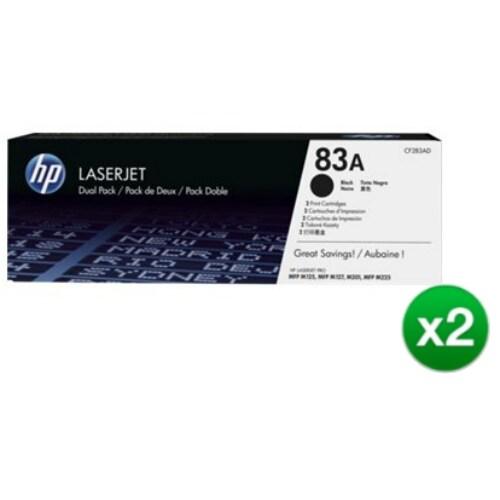 HP 83A Black Original LaserJet Toner Dual Cartridge (CF283AD)(2-Pack)