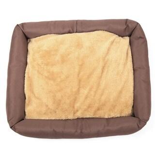 Autumn Winter Detachable Washable Pet Bed Non-Skid Bottom Brown M 50*41*6cm