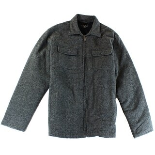 Club Room NEW Gray Mens XL Faux-Fur-Lined Full Herringbone Wool Jacket