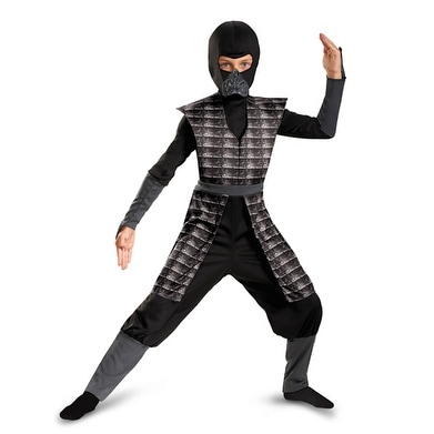 boys black evil ninja halloween costume medium size 7 8