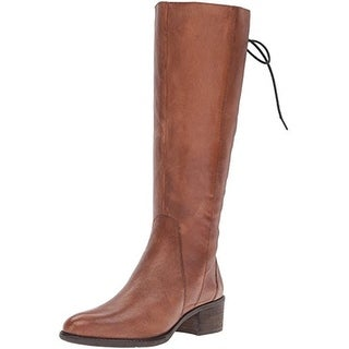 Steve Madden Womens Laceupp Riding Boots Leather Knee High