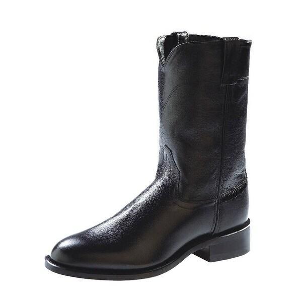 Old West Cowboy Boots Mens Corona Roper Neolite Black