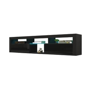 """Link to Bari 200 Wall Mounted Floating 79"""" TV Stand with 16 Color LEDs Similar Items in Living Room Furniture"""