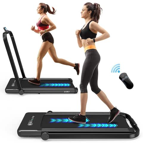 Foldable Treadmill for Home, 2 in 1 Treadmill with LED Screen