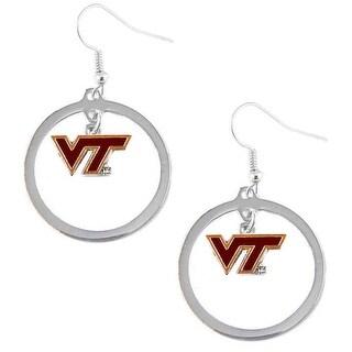 Virginia Tech Hokies Hoop Logo Earring Set NCAA Charm
