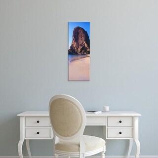 Easy Art Prints Panoramic Images's 'Cliff on the beach, Railay Beach, Krabi, Krabi Province, Thailand' Canvas Art
